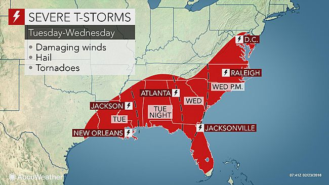 severe storms tornadoes to eye louisiana to florida