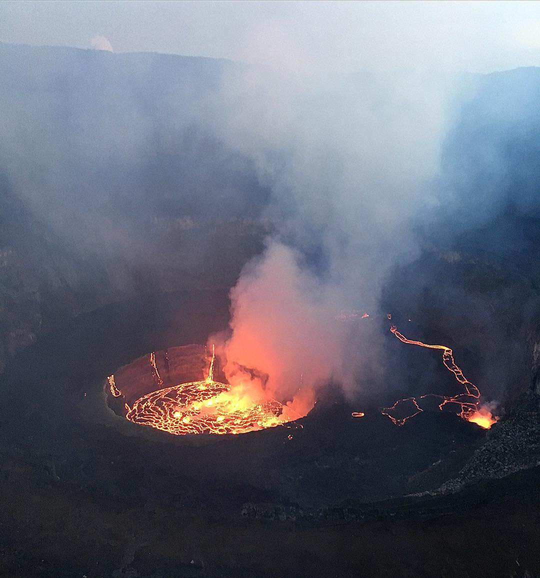 Nyiragongo Volcano Eruption Volcanoes Today, 27 Ma...